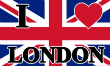 I LOVE LONDON - 5 X 3 FLAG